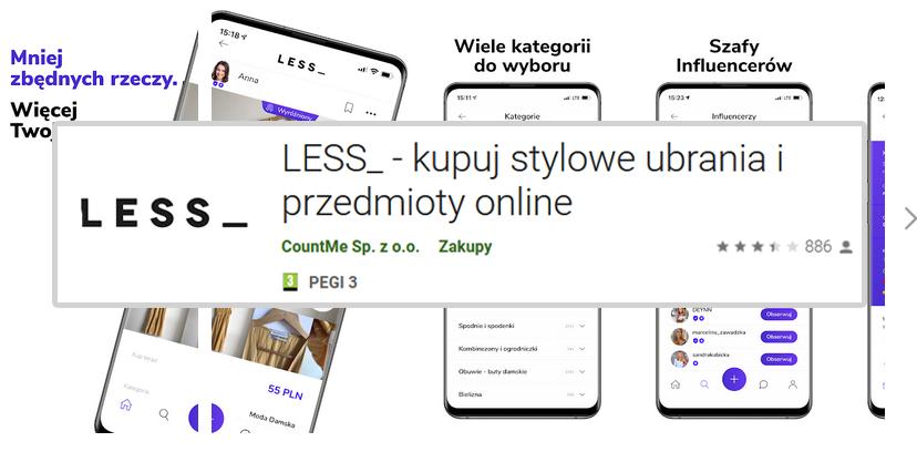 aplikacje modowe sprzedaż ubrań